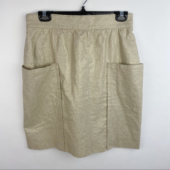 Anthropologie Cartonnier tan high waisted skirt